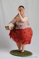 Папер клей, папье-маше, текстиль, 48 см, 2010
