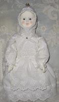 Флюмо, антикварные кружева, шитье, 27 см, 2008