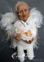 Living Doll, краски масляные, акрил, перо, 34 см, 2011