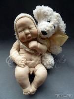 Living Doll, краски масляные, акрил, шерсть, 13 см, 2011