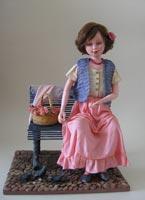 паперклей, дарви, акрил, волосы из шерсти козы, 22 см, 2009