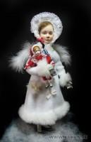 премьер, роспись: акварель, акрил, 28 см, куколки по 7-8 см, 2011