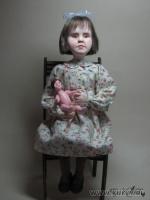 премьер, роспись: акрил, акварель, волосы из шерсти козы, 29 см (со стулом), 2011