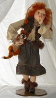 Паперклей, текстиль, овчина, кожа, шапка сваляна вручную, 41 см, 2008