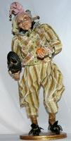 Цернит, текстиль, бисер, кожа, 43 см, 2008