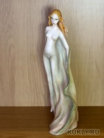 Паперклей, роспись - акварель и пастель,  серебро, 29 см, 2012