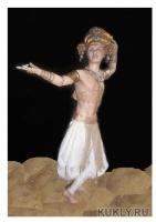 Paperclay, Livingdoll, натуральный шелк, натуральная кожа, акрил, масло, пастель., 48 см, 2012