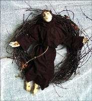 эфапласт, текстиль, дерево, 35 см, 2005 г.