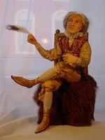 super sculpey + cernit, ручная роспись глаз, натуральные волосы, 34 см, сидя, 2005 г.