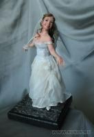Fimo Miniature, Высота композиции –19 см. Высота куклы –17см., Май, 2008 г.