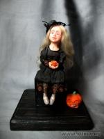 Fimo Miniature, Fimo puppen, Высота композиции – 12,5 см. Высота куклы – 13 см., Июль, 2009 г.