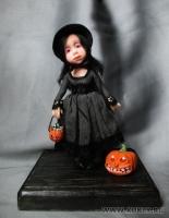 Fimo Miniature, Fimo puppen, Высота композиции –13 см. Высота куклы –11,5 см., Июль, 2009 г.