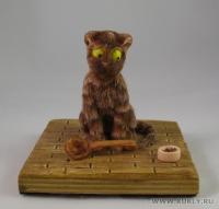 Fimo Miniature, Высота композиции – 9 см. Высота куклы – 7,5 см., Ноябрь, 2009 г.