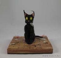 Fimo Miniature, Высота композиции – 9,5 см. Высота куклы – 8 см., Ноябрь, 2009 г.