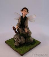 Fimo Miniature, Высота композиции – 14,5см. Высота куклы – 13 см., Август, 2009 г.