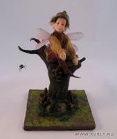 Fimo Miniature, Высота композиции – 15 см. Высота куклы – 13,5 см., Август, 2009 г.