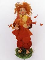 суперскалпей,ткань и бабочки - ручная роспись, 37 см, 2005 г.