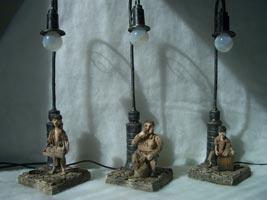 DAS, дерево, текстиль, кожа, бумага, металл, Размер композиции: 13х13х50 см (ДхШхВ), Высота куклы 13 см, 2008