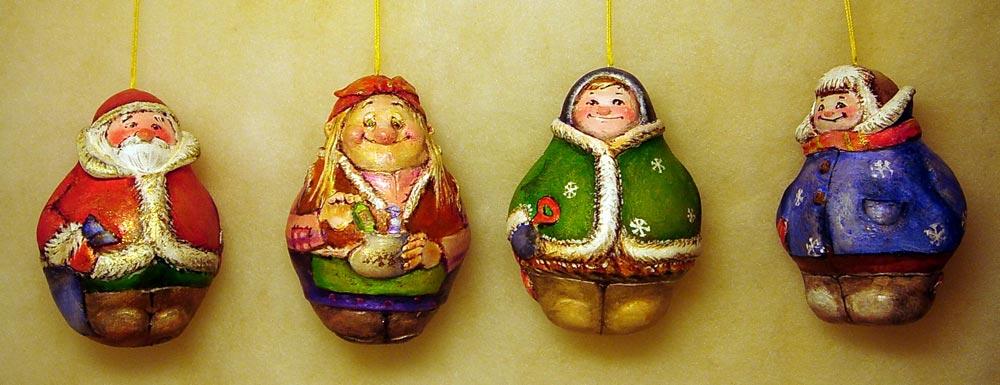 Новогодняя игрушка папье-маше своими руками