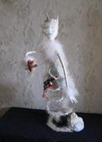 папье-маше, проволока, камень, ткань, конский волос, вата, собачья шерсть, страусиные перья, дерево (яблоня), хрусталь, 72 см, 2007 г.