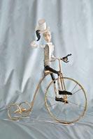фарфоровое папье-маше, шелк, кожа, 42 см, 2008
