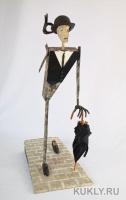 Папье-маше, шёлк, кожа, Высота – 47 см, 2012