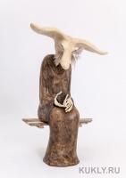 папье-маше, картон, перо страуса, 32 см, 2014