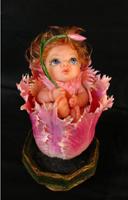 фимо, атлас, папье маше, роспись глаз и ткани, 18 см, 2005 г.