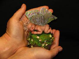 ливингдол, папье маше, органза, роспись, 11,5 см, 2005 г.