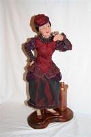 ливингдол, ручная роспись глаз и ткани, антикварная бутылочка, 50 см, 2007 г.