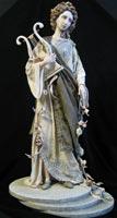 паперклей, папье-маше, ткань, 58 см, 2008