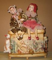 папье-маше, паперклей, ткань, дерево, 37 см, 2008